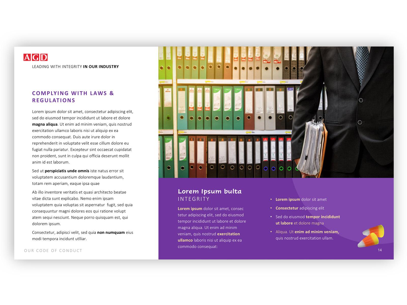 presentation for corporate legal dept